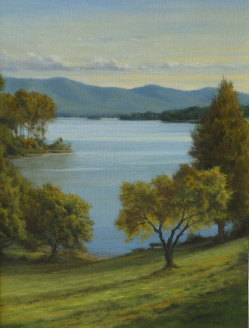 David Heath's Painting of the Mountain Preserver area of Smith Mountain Lake