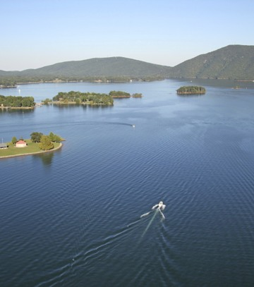 Aerial View of Smith Mountain Lake