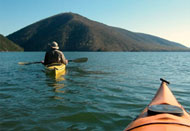 Kayaking on Smith Mountain Lake at LakeAway Vacation Rentals