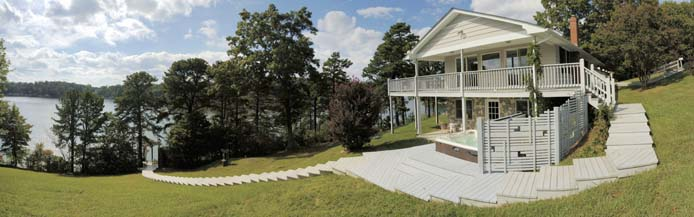 Wide view of Main House and Smith Mountain Lake