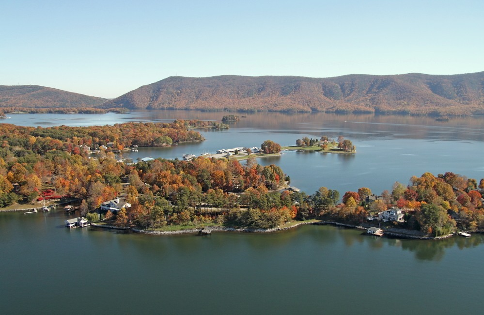 View of Mountain Preserve region of Smith Mountain Lake and LakeAway Vacation Rentals